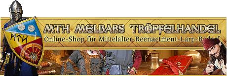 Onlineshop für Mittelalter und Reenactment, Schwerter, Rüstungen, Mittelalterwaffen, Mittelalterkleidung, Gerbauchsgegenstände, Zelte und mehr ...