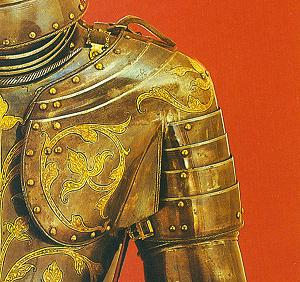 Linke Schulter eines Fussturnierharnisch von 1591