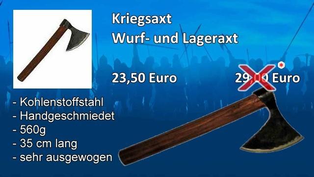 Wurf- und Lageraxt