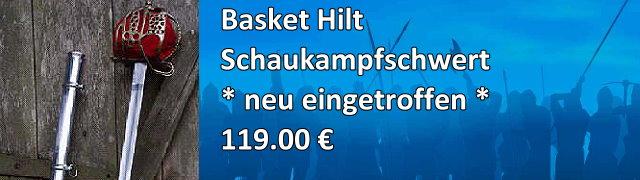Basket Hilt Schaukampfschwert