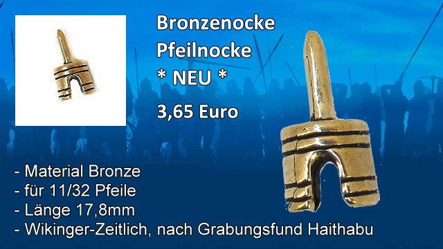 Bronzenocke 1132 Pfeilnocke
