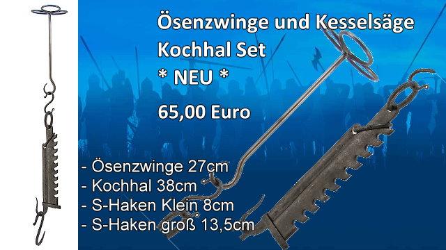 Ösenzwinge und Kesselsäge Kochhal Set