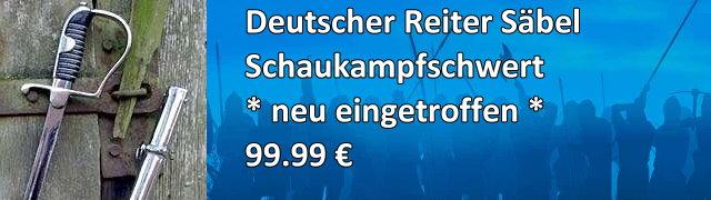 Schaukampfschwert Deutscher Reiter Säbel