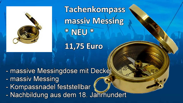 Tachenkompass Messing Streicher