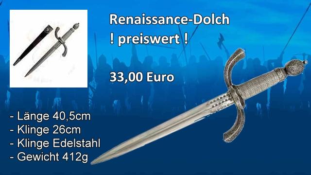 Renaissance-Dolch
