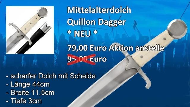 Mittelalterdolch scharf M2S5734M