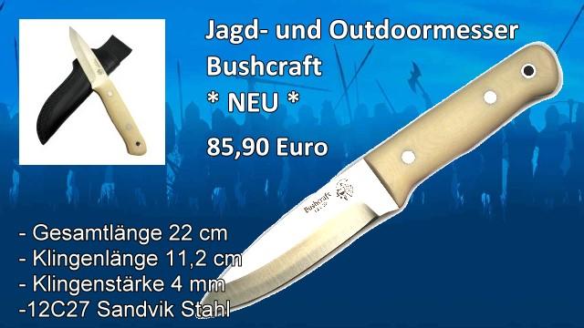 Bushcraft Jagd- und Outdoormesser