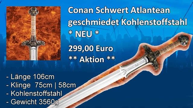 Conan-Schwert Atlantean geschmedet