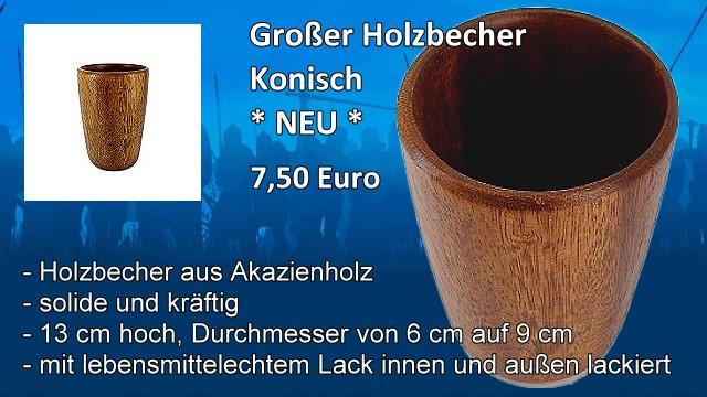 Grosser Holzbecher Konisch