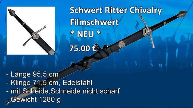Schwert Ritter Chivalry Filmschwert