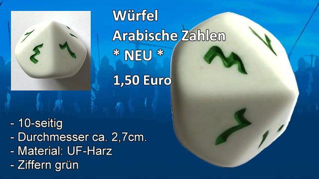 Würfel 10 Seitig arabische Zahlen