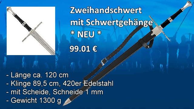 Zweihandschwert mit Schwertgehänge