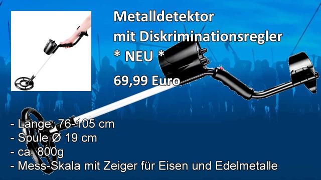 Metalldetektor mit Diskriminationsregler