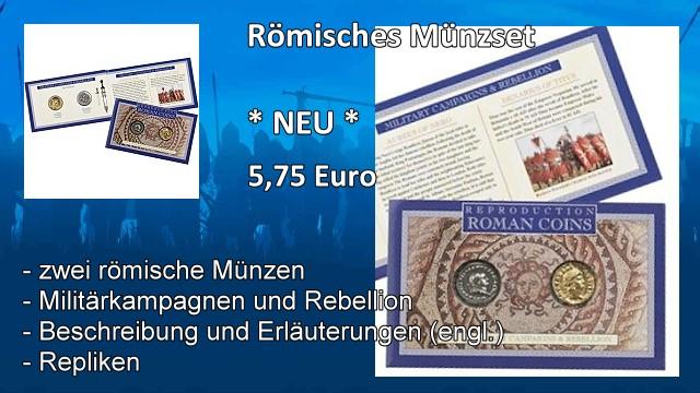 Römisches Münzset Militärkampagnen