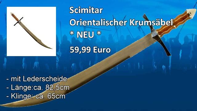 Scimitar Orientalischer Krumsäbel mit Scheide