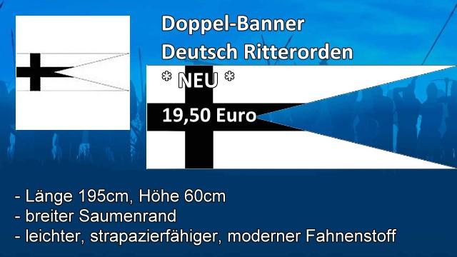 Doppel-Banner Deutsch Ritterorden