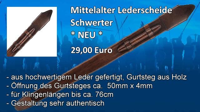 Mittelalter Lederscheide Schwerter
