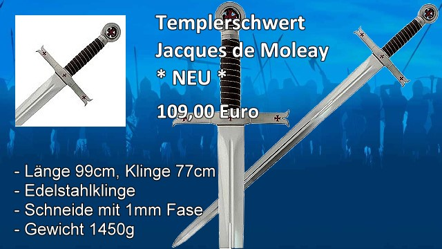 Templerschwert Jacques de Moleay