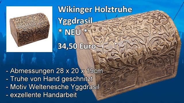 Wikinger Holztruhe Yggdrasil