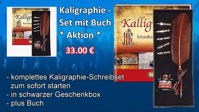 Kaligraphie Set mit Buch