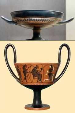 Trinkschalen Antike - Kylx und Kantharos