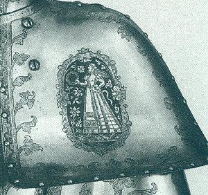 Linke Schulter eines welschen Gestech von 1588