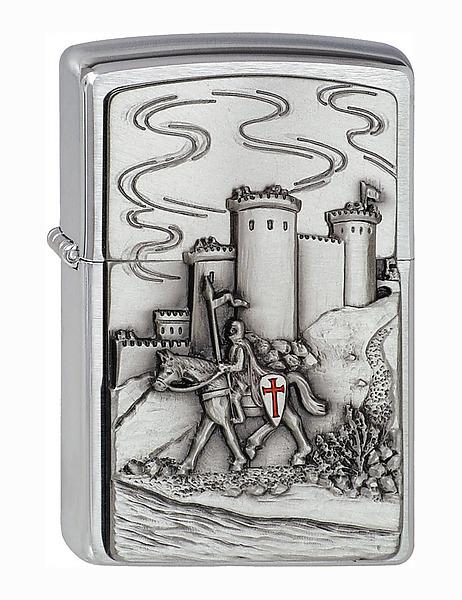 Zippo Feuerzeug Motiv Burg und Ritter