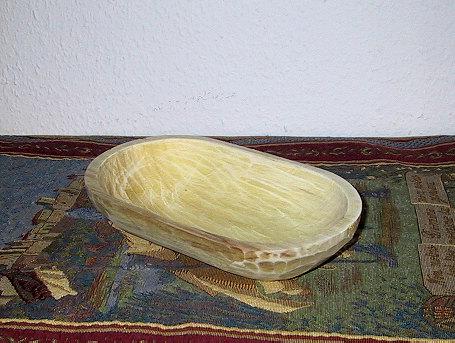 Handgehauene Holzschale oval 21cm