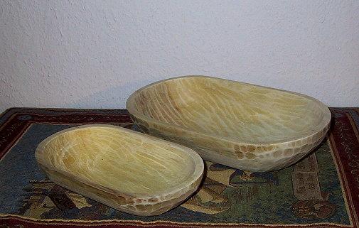 Bild Nr. 2 Handgehauene Holzschale oval 30cm
