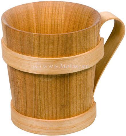 Mittelalter-Biergrug Holz Kelchform