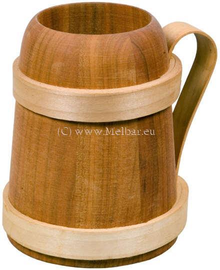 Holz Bierkrug Römer