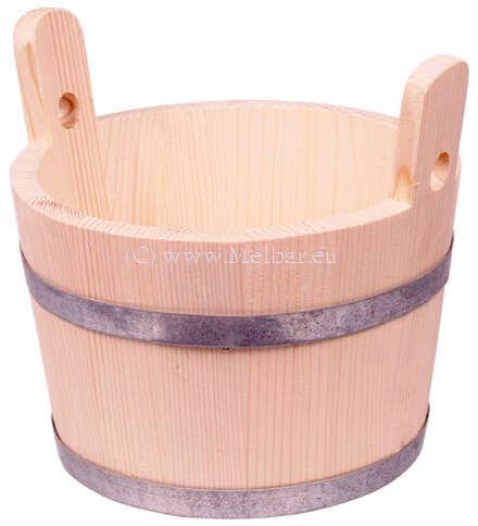Holzeimer Bottich trichterförmig 3,5 Liter