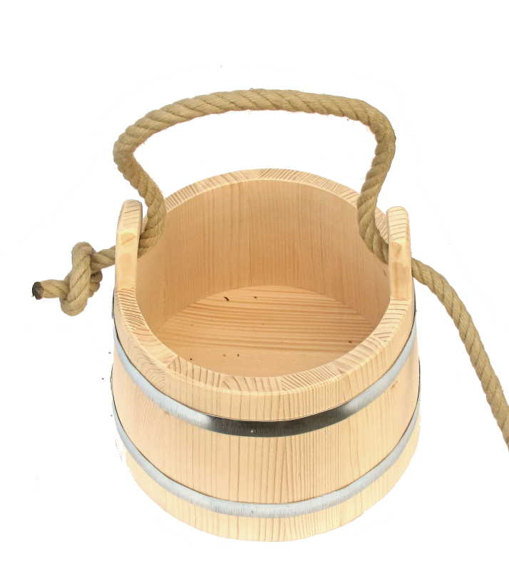 Bild Nr. 4 Holzeimer Bottich kegelförmig 7 Liter