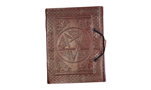 Lederbuch Pentagramm