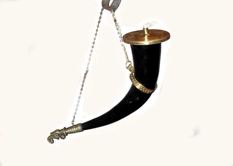 Wikinger Öllampe Horn