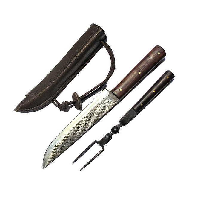 Bild Nr. 3 Mittelalter-Essbesteck mit Messer und Gabel