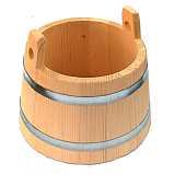 Holzeimer Bottich kegelförmig 7 Liter