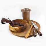 Holzteller Mittelalter-Tafel-Set VI