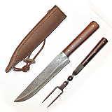 Mittelalter Essbesteck Messer, Gabel, Scheide