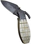 Messer Mittelalter-Damast-Taschenmesser