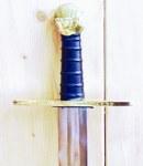 Schaukampf-Kreuzritterschwert graviert