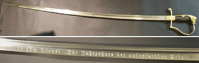 Schwertgravuren individuell