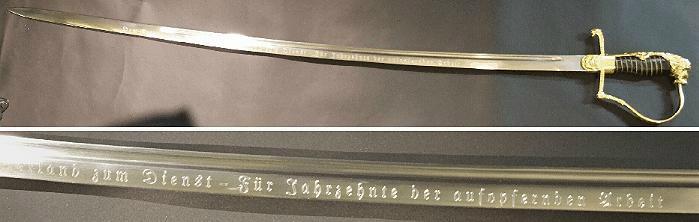 Bild Nr. 2 Waffengravur Standartschrifttyp