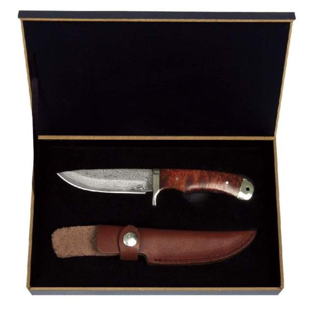 Bild Nr. 3 Damastmesser aus 8CR13 MoV in Holz-Geschenkbox