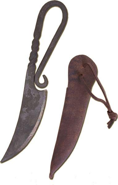 Wikinger-Messer mit Scheide