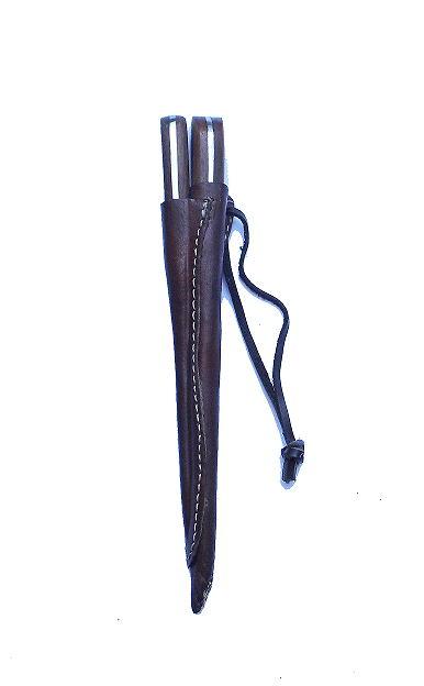 Bild Nr. 2 Mittelaltermesser und Essdorn mit Holzgriff
