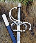 Schwerter Renaissance-Degen Rapier mit Lederscheide