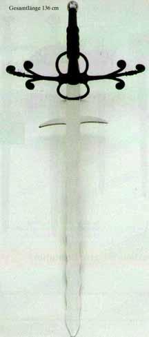 Bild Nr. 5 Landsknechtschwert Bidenhänder Flamberge