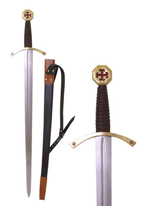 Bild Nr. 2 Templer-Schwert mit Scheide