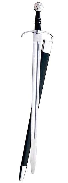 Spätmittelalterliches Schaukampfschwert mit Scheide